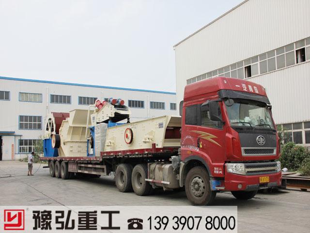 建筑垃圾处理生产线设备发货现场